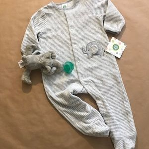 Velour Footie- Infant